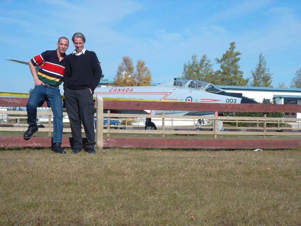 Die Brüder Müller in Goose Bay, Kanada, Oktober 2002
